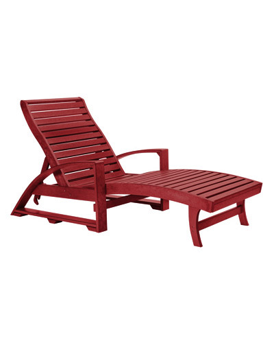 Cr plastic products l38 chaise lounge with hidden wheels for Burgundy chaise lounge