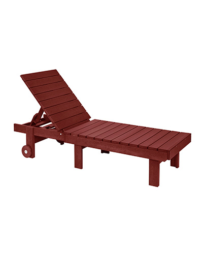 Cr plastic products l78 chaise lounge with wheels for Burgundy chaise lounge