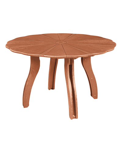 cr plastic products t12 52 scalloped round dining table